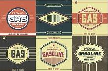 Vintage Gasoline Sign Vectors