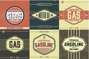 Vintage Gasoline Sign Vectors