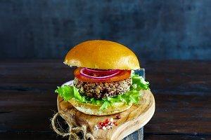 Tasty vegan burger