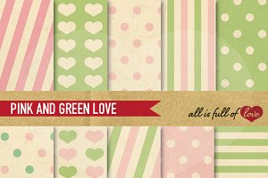 Pink Green Printable Background