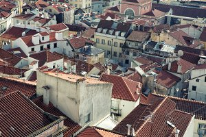 Roofs of the Lisbon,Portugal
