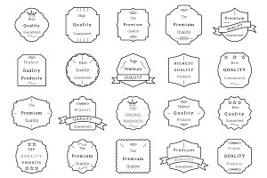 85 Premium Quality Badges and Labels