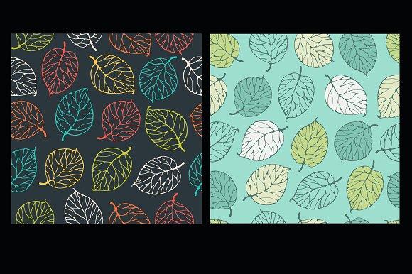 Set Forest Leaf Patterns