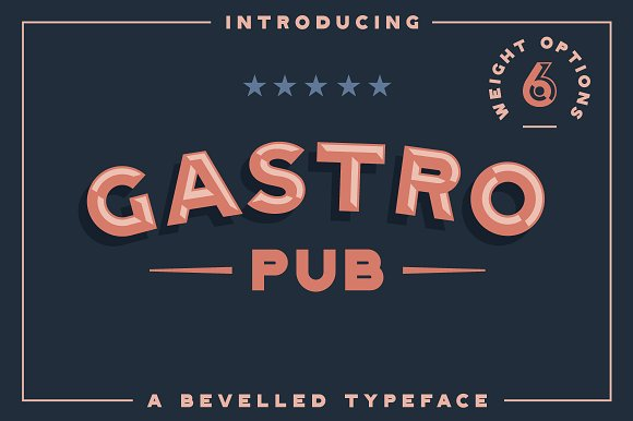 Gastro Pub Type Family Sans Serif Fonts Creative Market