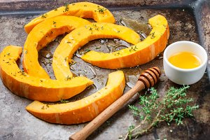 Pumpkin slices for baking