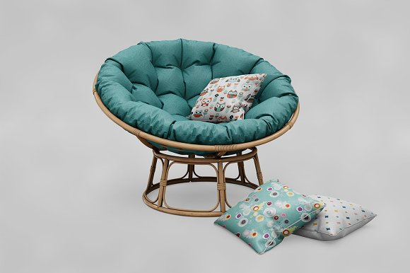 Circle Sofa Pillow MockUp