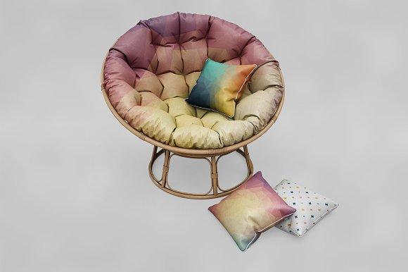 Circle Sofa Pillow MockUp