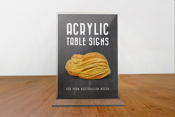 Download Acrylic Table Signs
