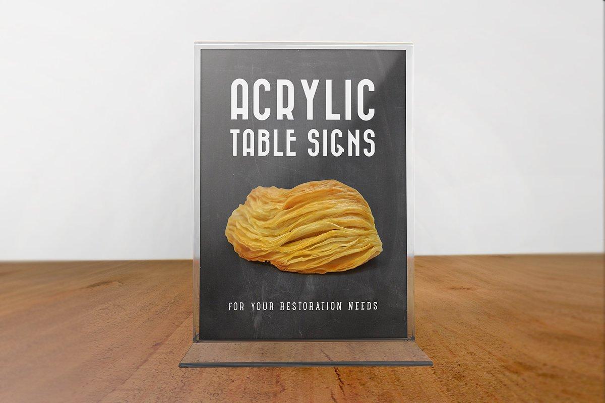 Acrylic Table Signs Creative Print Mockups Creative Market