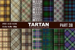 Seamless  Tartan Pattern Part - 38