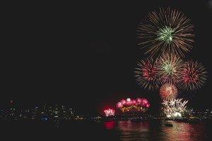 Fireworks during Sydney Celebration