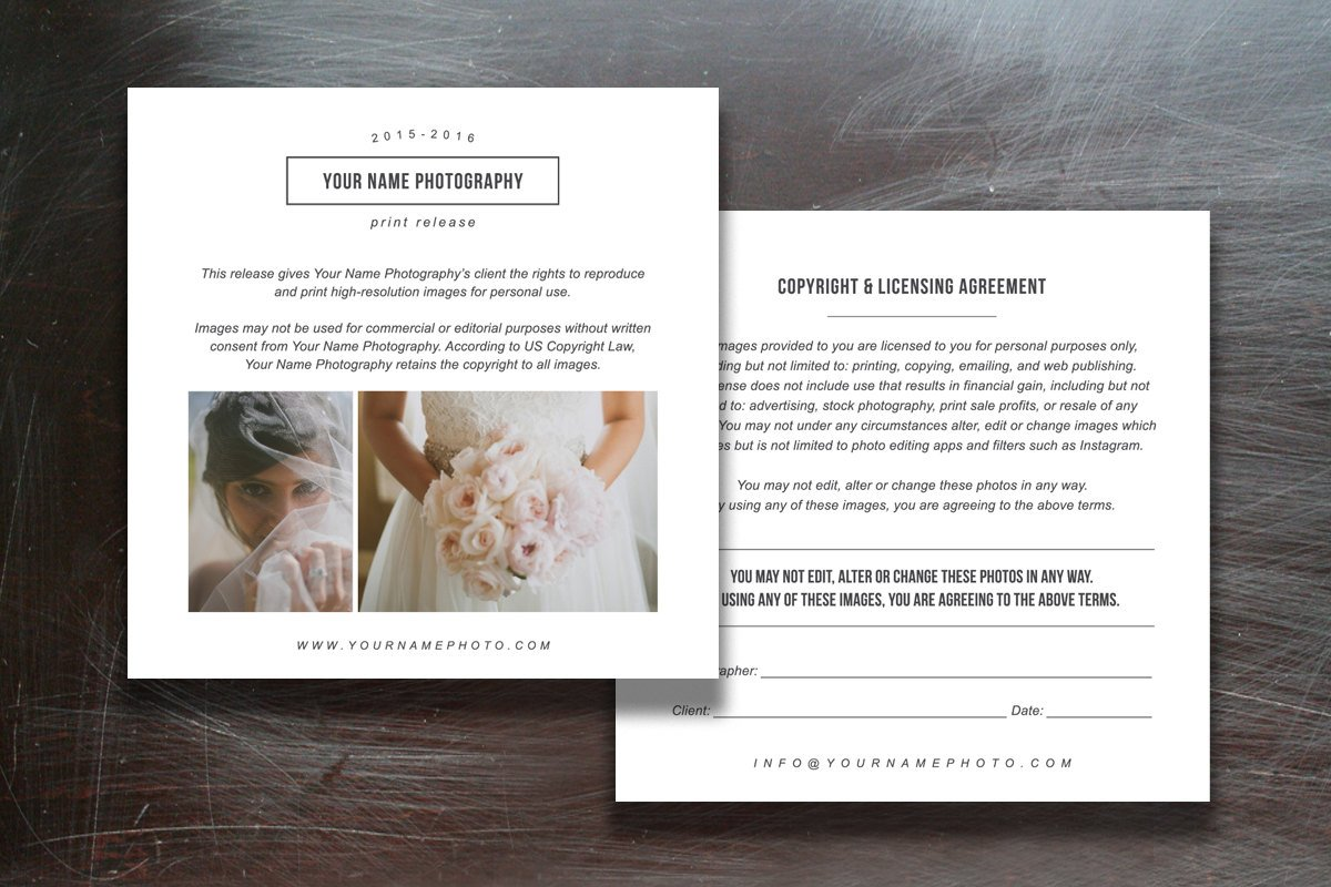 Print Release Form Template Contract Templates on Creative Market – Print Release Form