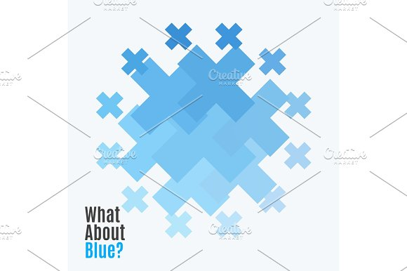 Abstract Vector Design Elements With Cross