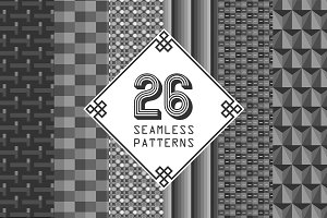 26 Seamless Patterns + Swatches