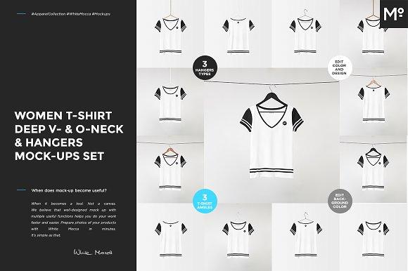 V- O-Neck Tshirt Hangers Mock-ups