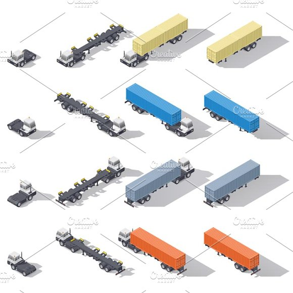 Terminal Tractor With Trailer Set
