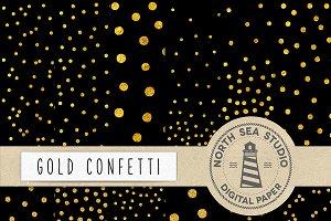 Gold Foil Confetti Paper