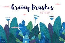 Grainy Brushes For Photoshop