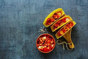 Tasty shrimp tacos