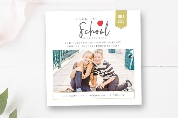 5x5 Back To School Mini Session PSD