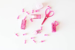 Pink Office Supply - Styled Photo