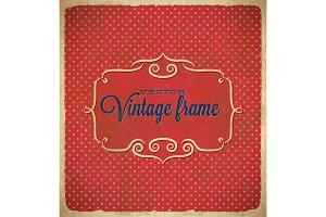 Aged vintage polka dot frame