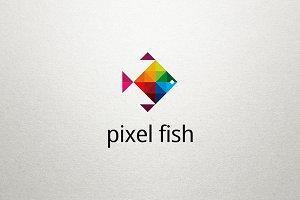 Pixel Fish Logo