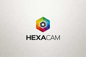 Hexa Camera Photography Logo