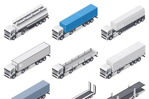 Trucks with semi-trailers