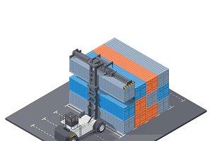 Port loader at working