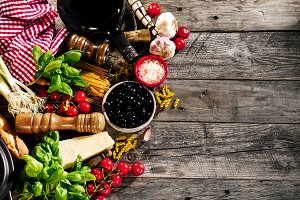 Food Tasty Ingredients Recipe Above