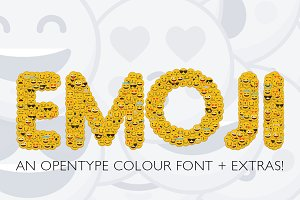 Emoji smiley font