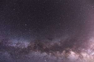 Milky Way Galaxy in the Night Sky