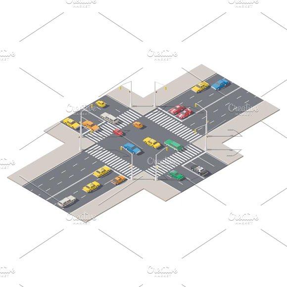 Crossroads With Traffic Lights
