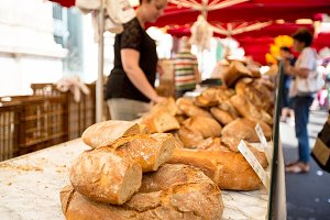 Fresh Bread At A Market In Southern France