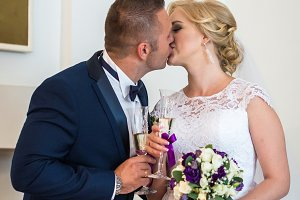 Loving couple in the registry office