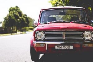 Red Vintage Car ~ Mini Cooper
