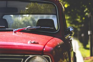 Red Vintage Car ~ Mini Cooper