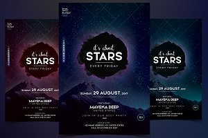 The Stars - PSD Flyer Template