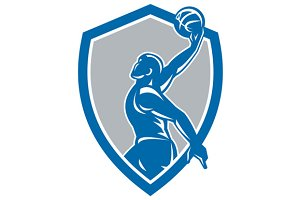 Basketball Player Dunk Ball Shield R