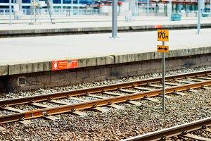 Oslo railroad transport statio background