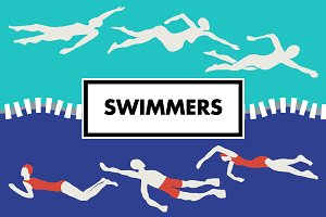 Swimmers Graphic Kit