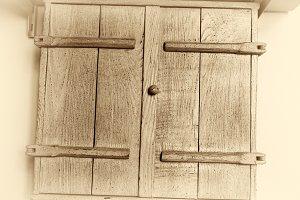Vintage sepia kitchen locker background