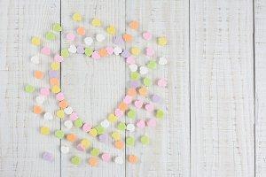 Candy Hearts in Heart Shape