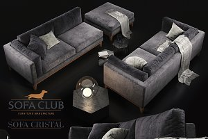 Sofa Cristal Sofa Club violet dark