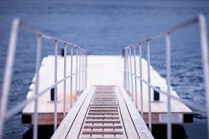 Norway ship boarding bokeh backdrop