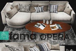 Sofa Fama Opera White