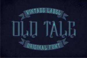 Oldtale Vintage Label Typeface