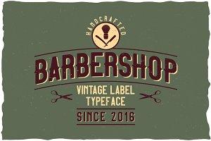 Barbershop Vintage Label Typeface