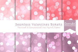 Seamless Valentines Bokehs